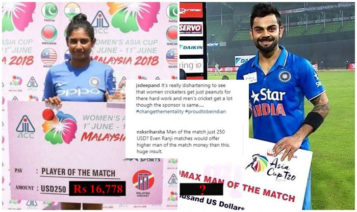 Women S Asia Cup 2018 Mithali Raj Harmanpreet Kaur Get Rs 16 778 As Prize Money For Player Of The Match Netizens Are Fuming India Com