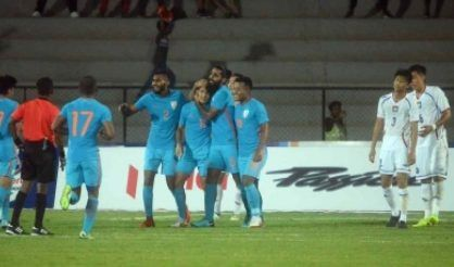 Sunil Chettri is living a dream. His teammates are by his side and the blues look a happy bunch (IANS)