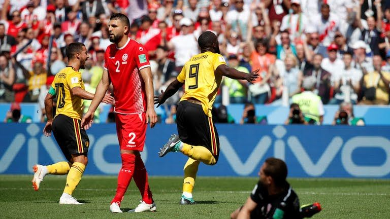 Lukaku scores- 2-1 lead at half time for belgium