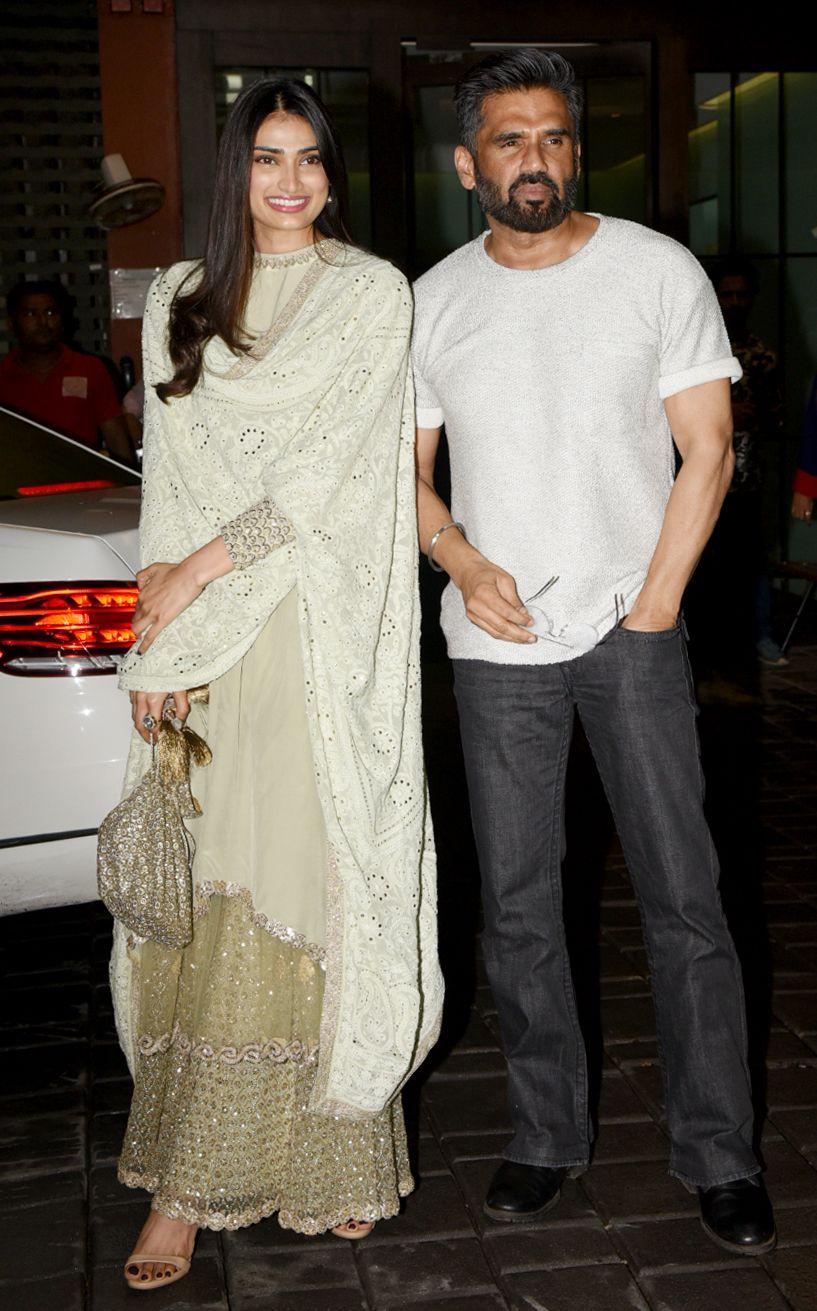 Ahithya Shetty and Suniel Shetty