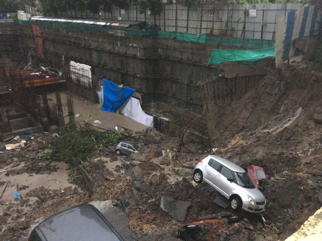 Lloyd's Estate compound part caves in, residents trapped