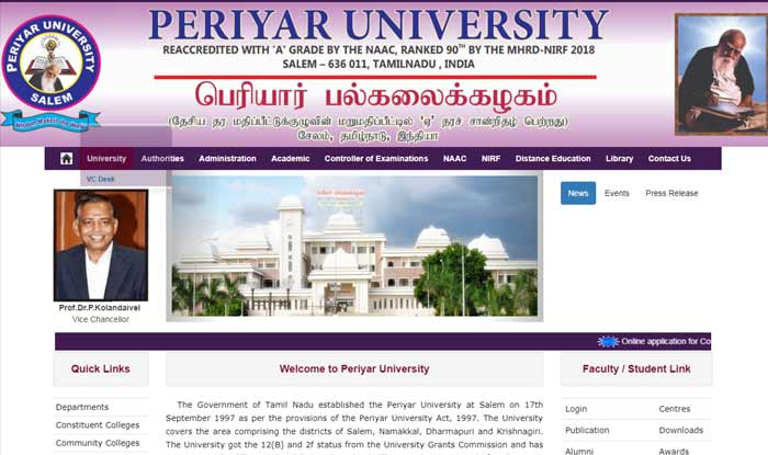 Image result for Periyar University Results images