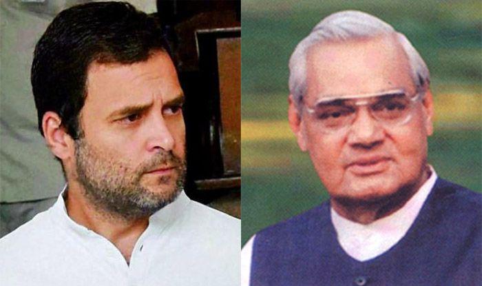 Rahul Gandhi Visits Atal Bihari Vajpayee Admitted at Delhi AIIMS For Routine Check-up; Hospital Says Condition Stable