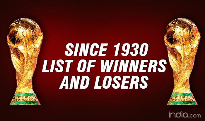 List of world cup winners since 1930