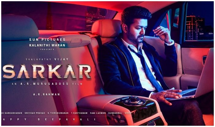 sarkar second poster out thalapathy vijay s serious look leaves us