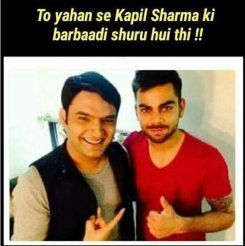 Virat Kohli Meme on Kapil Sharna