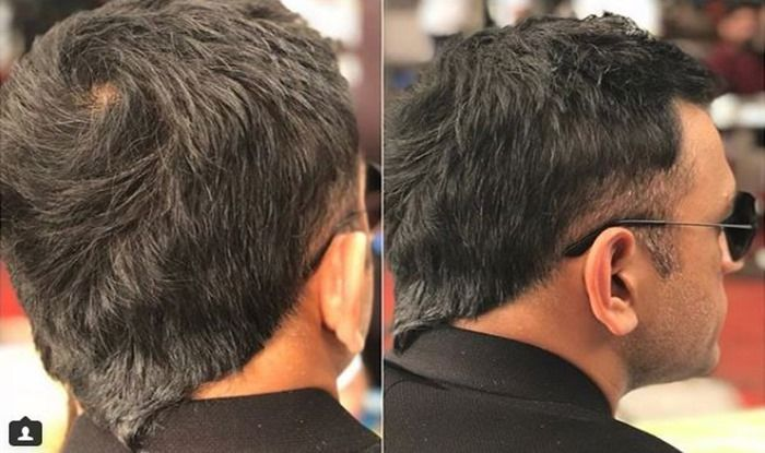 Ms Dhoni Flaunts New Hair Style The Old V Hawk Is Back Pics India Com