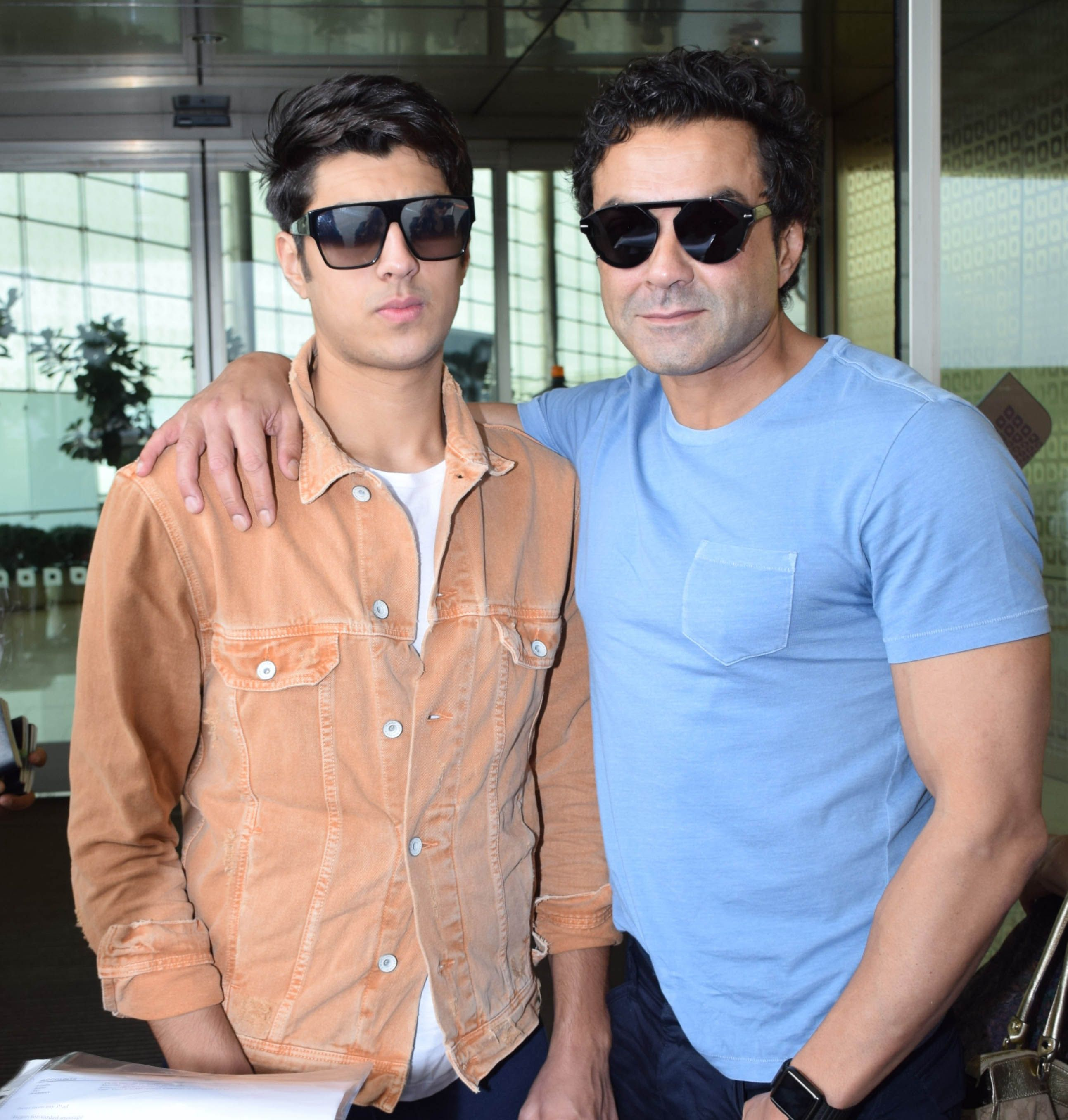 Bobby Deols Spotted With Family At Mumbai Airport Son Aryaman Deol