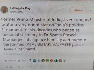 Tathagata Roy tweet