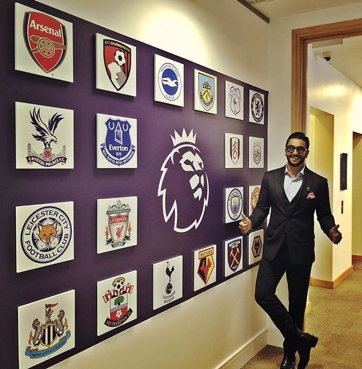 Ranveer Singh is the brand ambassador of the Premier League