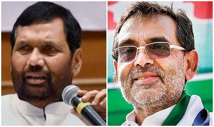 Lok Sabha Elections 2019 Ram Vilas Paswan Upendra Kushwaha Reject 50 50 Formula In Bihar Demand Same Number Of Seats As In 2014 General Polls India Com