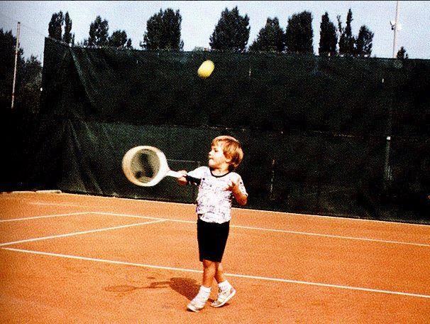 Roger Federer as a kid