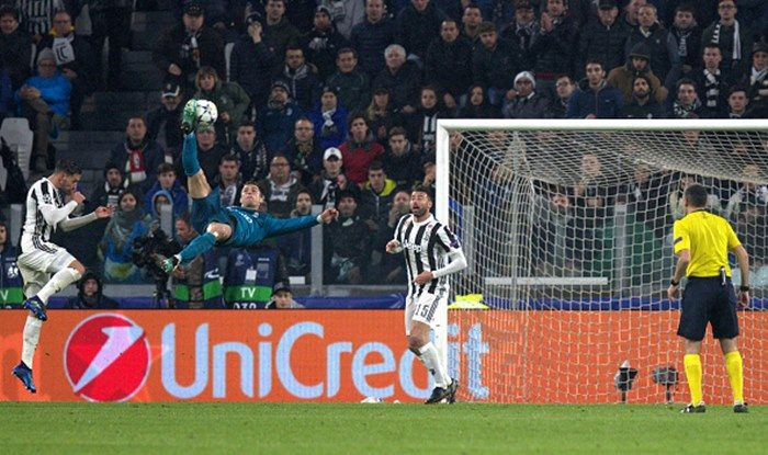 Champions League Cristiano Ronaldo S Bicycle Kick Against Juventus Nominated For Uefa Goal Of The Season India Com