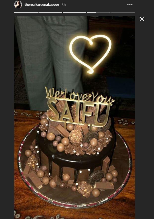 saif ali khan cake