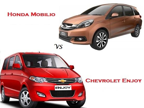 Comparison Honda Mobilio Vs Chevrolet Enjoy Compare Price