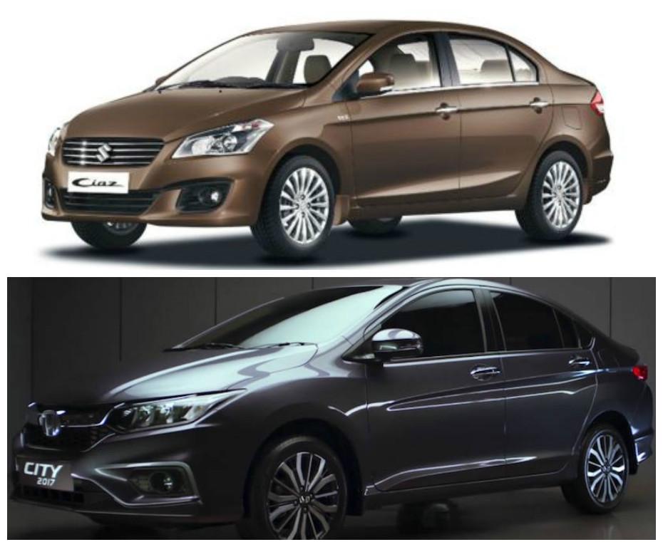 Maruti Suzuki Ciaz Vs Honda City 2017 Price In India Specification