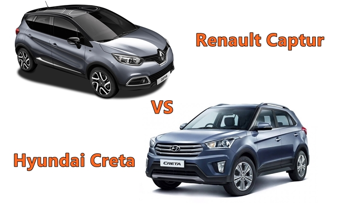 Renault Captur Vs Hyundai Creta Price In India Interior