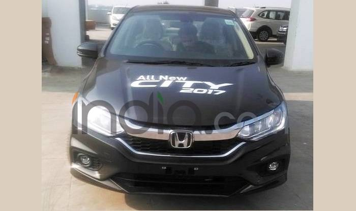 Honda City 2017 Demo Car Spied At Dealership Before India Launch On