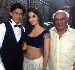 Shah-Rukh-Khan-with-Katrina-Kaif-and-Yash-Chopra-on-the-sets-of-Jab-Tak-Hai-Jaan