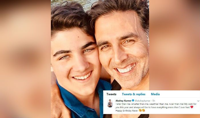 Akshay Kumar wishes Son Aarav on a birthday with a lovely