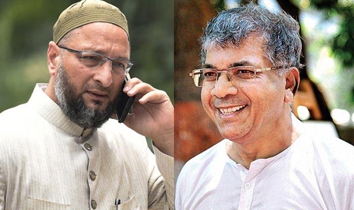 Image result for Prakash Ambedkar and Asaduddin Owaisi pics