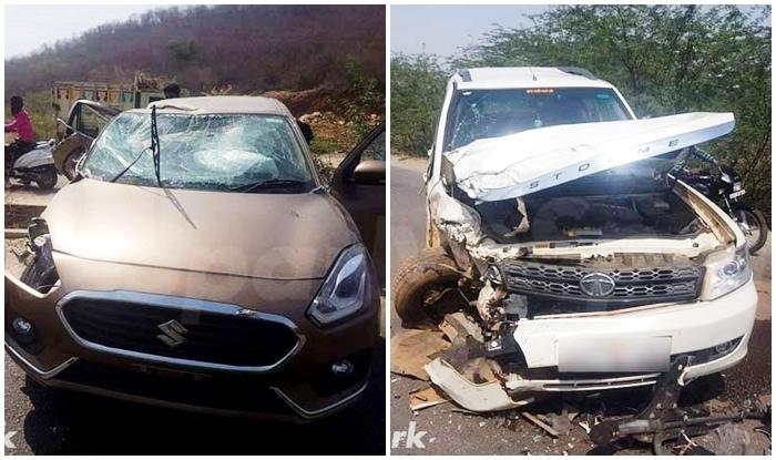 2017 Maruti Suzuki Dzire Crashes With Tata Safari New Dzire Proves