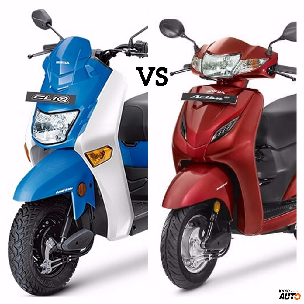 Honda Cliq Vs Activa 4g Comparison Report Price Features And Specifications Mileage