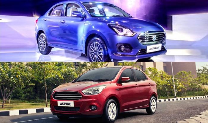New Maruti Dzire 2017 Vs Ford Aspire Comparison Price In India Features Mileage Variants Dimensions