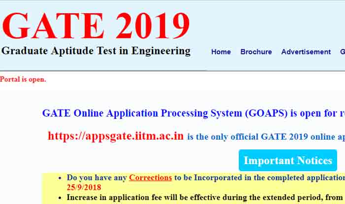 Gate 2019 Result Photo: GATE 2019 Admit Card Likely To Be Released Today At 4 PM