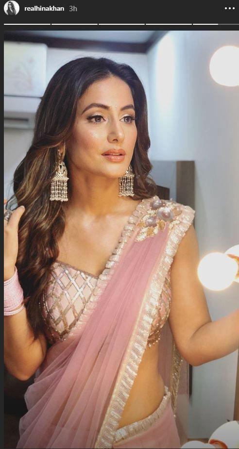 Bigg Boss 11 Contestant Hina Khan Looks Smoking Hot In Pastel Pink