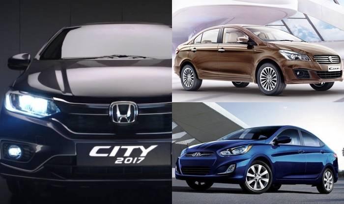 2017 Honda City Vs Maruti Suzuki Ciaz Vs Hyundai Verna Price