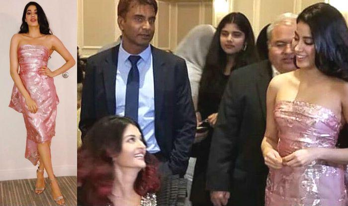 janhvi Kapoor pink reema acra gown main 2