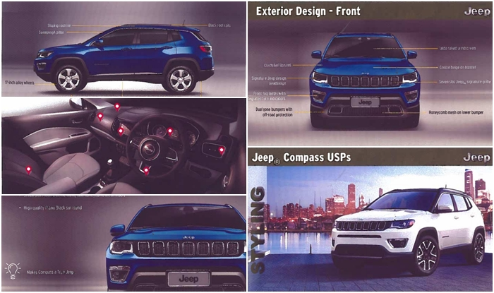 Jeep Compass 2017 Official 53 Page Brochure Leaked Price In India