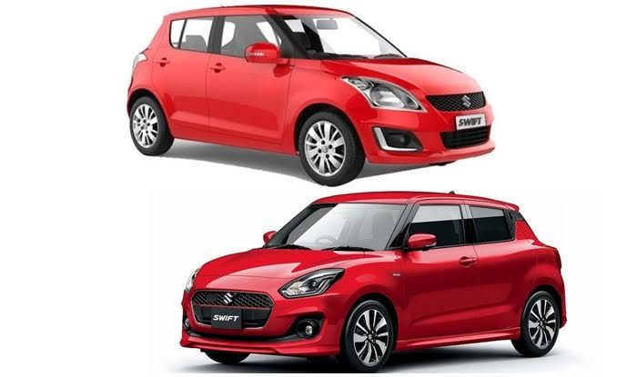 Maruti Swift 2018 New Vs Old Comparison Design Features Images