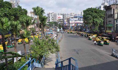 Transport scenario in Kolkata during Bharat bandh