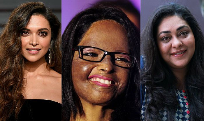 Deepika Padukone, Laxmi Aggarwal, Meghna Gulzar (Photo Courtesy: Getty Images)
