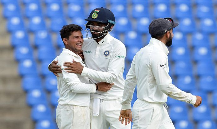 LIVE Cricket Score India vs West Indies 2018, 1st Test, Day 3 at Rajkot: Kuldeep Yadav Picks Fifer as India Rattle Windies in Follow-On