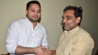 Bihar Politics Heats up as Upendra Kushwaha Meets Tejashwi After BJP-JD(U)'s 50-50 Seat Share Deal