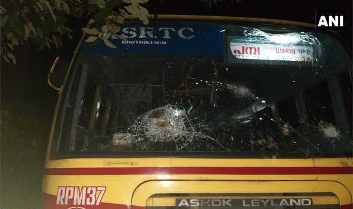 Bus carrying journalists among other passenger vandalised by protesters