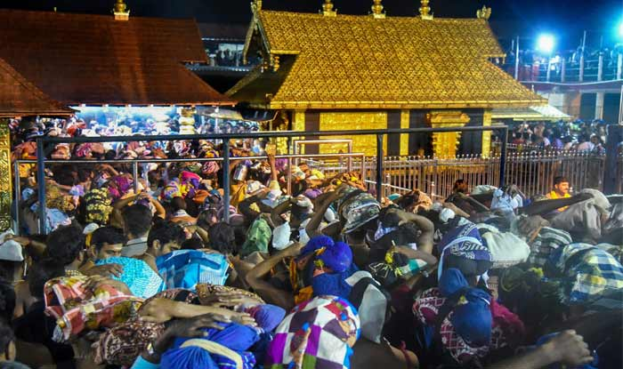 Sabarimala Row: No Woman of 'Banned' Age Group Allowed to Enter on Day 2 as Protests Continue; CM Blames RSS