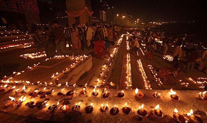 Earthern Lamps on Dev Deepavali