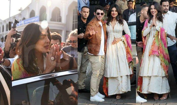 Priyanka Chopra and Nick Jonas Wear Traditional Indian Garb Ahead of Wedding