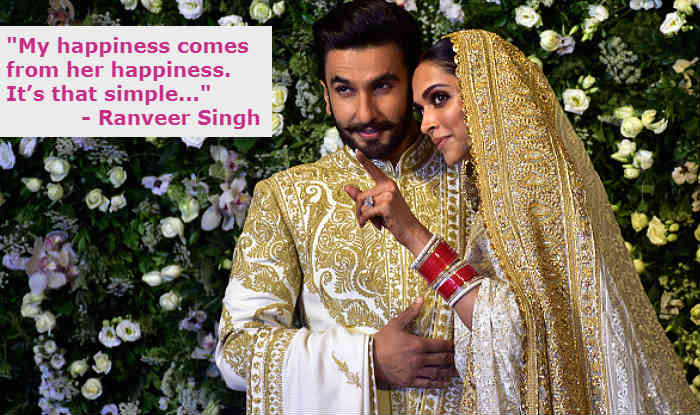 Ranveer Singh and Deepika Padukone at their wedding reception (Photo Courtesy: Getty Images/ india.com)