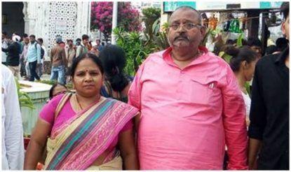 बीजेपी एमएलए माधुरी वर्मा के साथ उनके पति दिलीप वर्मा. फाइल फोटो.