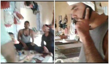 कैदी फ़ोन पर गले गलौज कर किसी को रुपए जेलर तक पहुंचाने की धमकी दे रहे हैं.