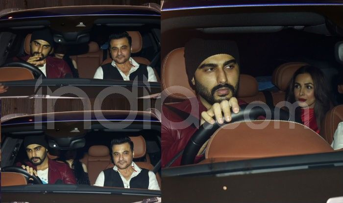 Malaika Arora, Arjun Kapoor, Sanjay Kapoor and Maheep Kapoor at Ritesh Sidhwani's Christmas party, Photo Courtesy: Yogen Shah/ India.com