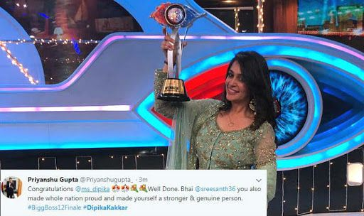 Dipika Kakar Wins 'Bigg Boss 12' and Takes Home Rs 50 Lakhs
