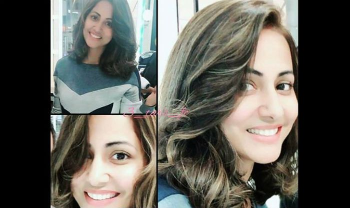 Hina Khan Gets A New Makeover Looks Hot In Short Coloured Hair