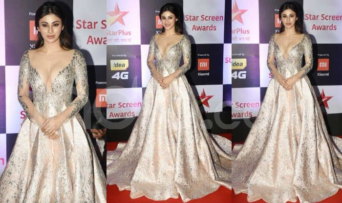 Mouni Roy at the red carpet of Star Screen Awards 2018. Photo Courtesy: Yogen Shah/ India.com