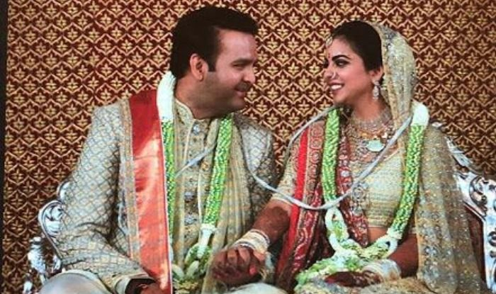 Isha Ambani and Anand Piramal at their wedding reception